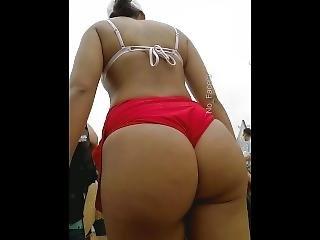 Candid Thick Ass Latina