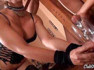 Slave Milked By Two Goddesses