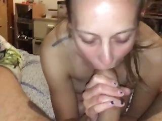 Drunk Girlfriend Sucks Dick And Asks For Dp! Wish Cum True