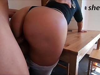 Stepson Cums Inside Step-mother, With A Nice Round Ass...