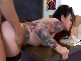 Tattooed Pornstar Gets Rammed