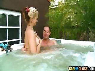 Phoenix Marie Sucks Dick At The Hottub