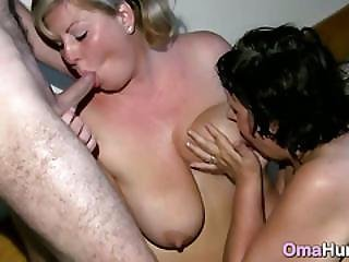 Fat Granny Licked By Blonde Lesbian