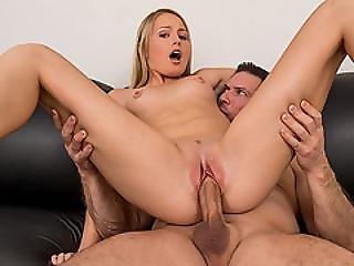 Pretty Blonde  Teen Scarlett Sage First Time Porn Fuck