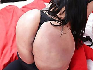 Big Tits Transbabe Milena Twerks And Jerks Off Her Lovely Dick