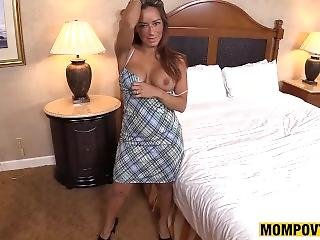 Gorgeous Amateur Latina Cougar Gets Facial Cumshot Pov