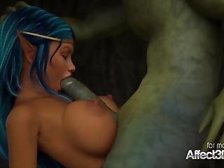3d, animacja, anime, cycata, hentai, lesbijka