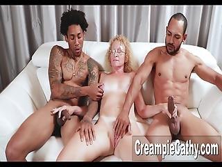 amatorski, anal, śmietanka, sperma wewnątrz, międzyrasowy, milf, trójkąt, żona