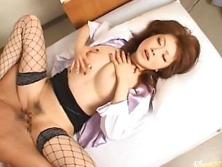 ( Hntimes.com ) Rio Hamasaki Babe Nurse Gets Pussy Fingered Fuck Part 1