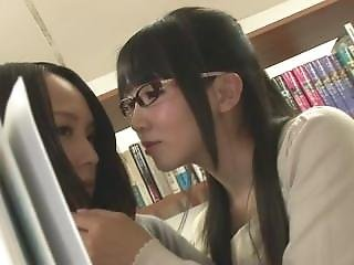 Hunt-881 Library Lesbian Serve Embarrassed