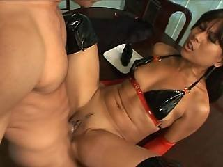 Bitch In Leather Loves Ass Fucking