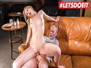 Letsdoeit Teen Waitress Gets Her Tight Pussy Fucked By Sugar Daddy