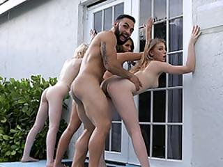 Owner Of The House Caught Tighty Slut Teens At His Place