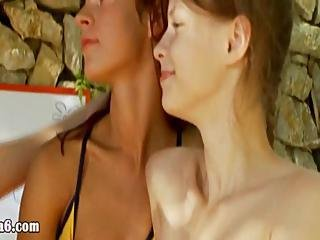 Trio Lesbians And Teasing Pussies