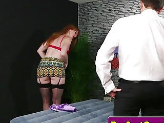 British Ginger Cocksucking And Giving Wankjob