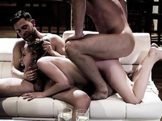 Awesome Threesome With Hot Teen Cadence Lux