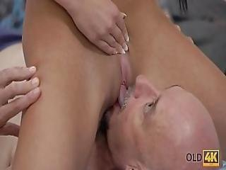 Old4k. Skillful Daddy Penetrates Hot Mistress Anna Rose In Bedroom