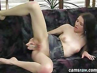 Brunette Slut With Amazing Ass Playing With Sex Toys In Front Of Webcamera
