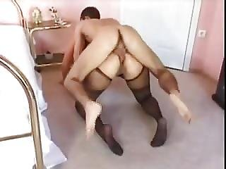 Blonde Bbw Gets Fucked Anally By Small Guy
