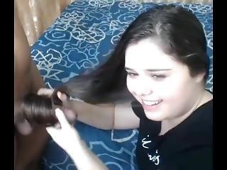 Colombian Hairjob And Cum In Hair, Long Hair, Hair