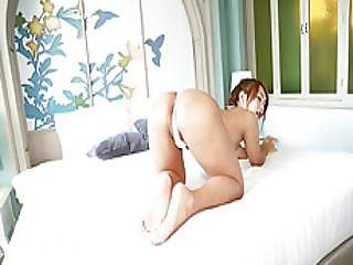 Cute Ladyboy Namlyn Shows Her Sexy Body Then She Strokes Her Cock