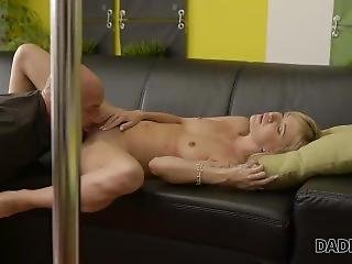 Daddy4k. Innocent Pole Dance Turned Into Nice Dad And Young Girl Sex