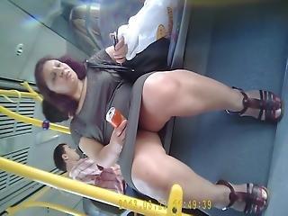 Turkish Hidden Bus Skirt Upskirt Turk Etek Alti