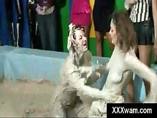 Out Of Control Lesbian Hotties Get Filthy In Sexy Mud Bath