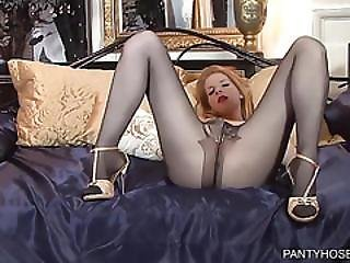 Hot Ginger Touches Herself And Teases