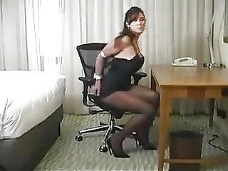 Black Dress Woman In Hotelroom