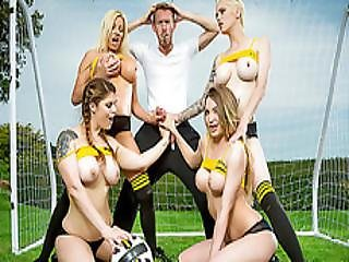 Red Hot Sex Orgy In The Football Field