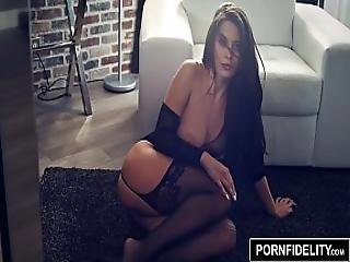 Pornfidelity Lana Rhoads Rocks Her Perfect Ass In Lingerie