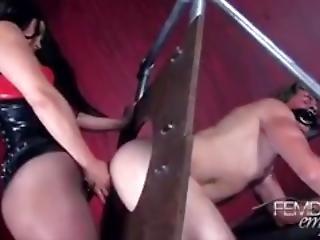 Bound Slave Strapon