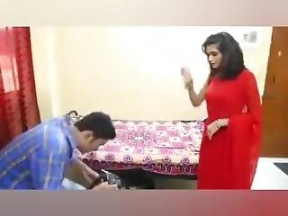 Hot Indian Wife Feeling Horny Romance With The Lingerie Seller