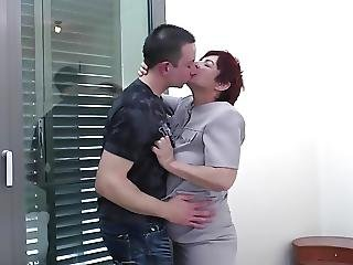 Well Skilled Granny Suck And Fuck Young Boys Cock