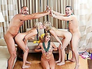 Leaked Amateur Mardi Gras Group Sex Tape