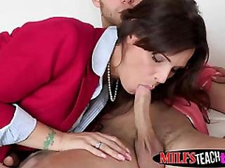 Sultry Syren Rides Dick With Her Sexy Brunette Stepdaughter Cassidy