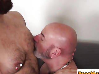 Hairless Aged Bear Analfucked After Rimjob