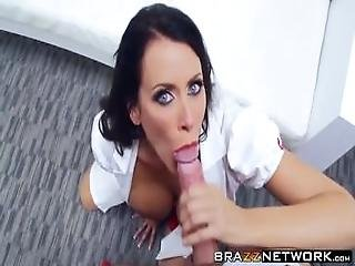 Horny Nurse Milf With Big Boobs Gets Pussy Smashed