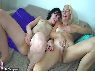 Oldnanny Two Grannies And Two Teen Girls Compilation