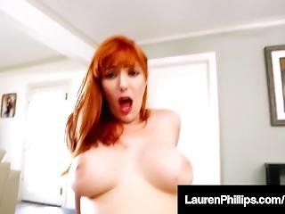Lustful Lauren Phillips Spits On & Swallows A Big Hard Cock!