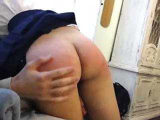 English Father Spanking His Daugther
