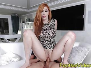 Plowed Redhead Takes Cum