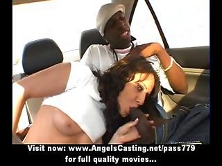 Amazing Brunette Milf Having Interracial Sex