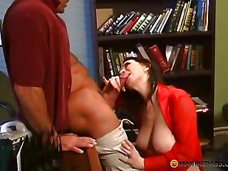 Beauty Fucks With The Guy Sitting On His Cock