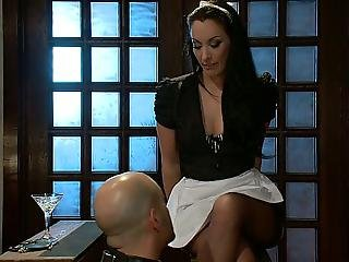 Brunette, Domination, Dominatrix, Feet, Foot, Lick, Maid, Mistress, Uniform