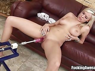 Britney Beth Having Fun With A Fucking Machine