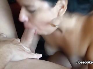 amateur, pijp, lul zuigen, ejaculatie, latina, volwassen, milf, zuigen
