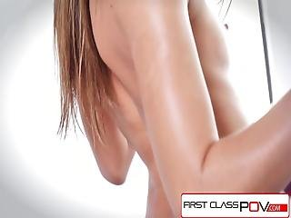 Firstclasspov - Teen Tara Ashley Sucking A Monster Cock, Big Booty