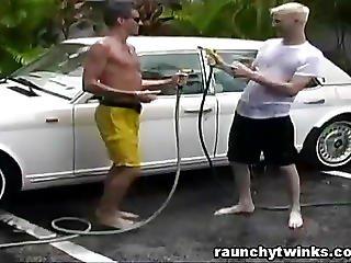 Hot Jocks Carwash Service Turns To Crazy Gay Fucking